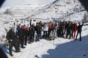 Snowshoeing in Maaser El Chouf Reserve with Adventures in Lebanon