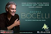 Andrea Bocelli - Part of Cedars International Festival 2019