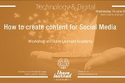 How to create content for Social Media - Workshop at I Have Learned Academy