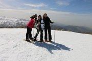 Snowshoeing at Qornet el Sawda
