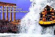Rafting - Pyramid of Hermel - Baalbeck Temple with YOLO
