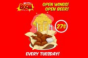 Open Wings and Beer at The Redstreet Boom