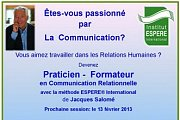 Formation au Liban de PRATICIEN - FORMATEUR en Communication Relationnelle avec l'Institut ESPERE International