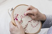 Cross Stitching at Alwan Salma