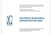 "Lancement du DBA ""Doctorate in Business Administration""‏ a l'ESA - Liban"
