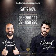 The Artist Nassif Zeytoun and Comedian Hicham Haddad Live at Casino du Liban