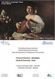 """Concert """"Assolo Mandolin Concert"""" by Tiziano Palladino and Jihad Al Chemaly"""
