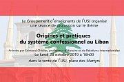 USJ- Hors les murs: un rendez-vous à la place des martyrs (tentes de l'USJ)