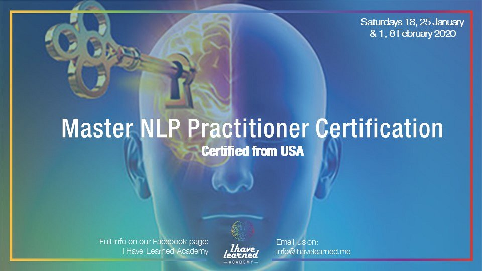 Master NLP Practitioner Certification from USA - I Have ...