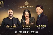 Moeen Shreif, Nancy Nasrallah & Hicham Haddad at Casino Du Liban on New Year Eve 2020